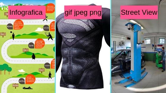 Tipologie di immagini per Siti Web