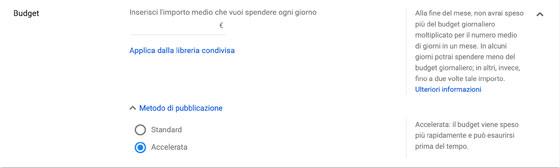 Pubblicazione accelerata Google Ads